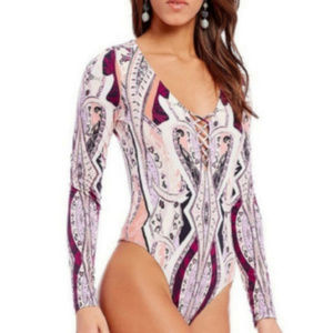 Price firm! NWT Free People Lace Up Bodysuit top